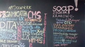 Chalk board at soap! conference